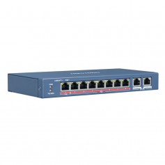 Hikvision DS-3E0310HP-E switch PoE longue distance 250 mètres 10 ports dont 8 ports PoE