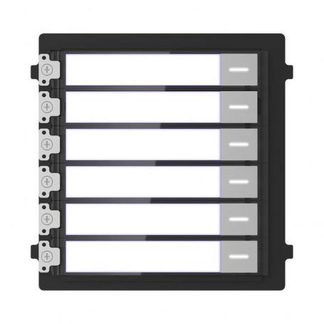 Module 6 boutons d'étiquettes Hikvision DS-KD-KK pour interphone vidéo