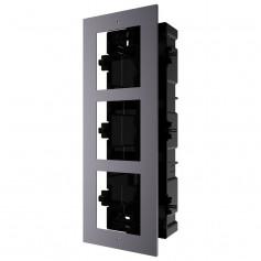 Boîtier de montage encastré 3 emplacements Hikvision DS-KD-ACF3 pour interphone vidéo