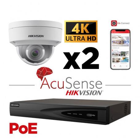 Caméra AcuSense 4K H265+ vision de nuit IR 30 mètres